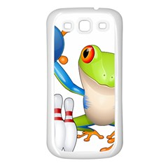 Tree Frog Bowler Samsung Galaxy S3 Back Case (white)