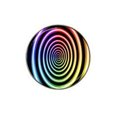 Hypnotic Circle Rainbow Hat Clip Ball Marker