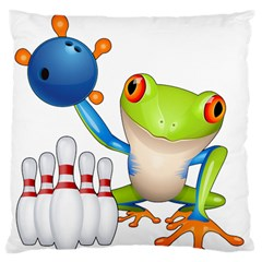 Tree Frog Bowler Standard Flano Cushion Case (two Sides)