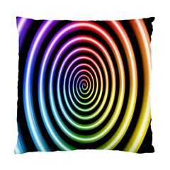Hypnotic Circle Rainbow Standard Cushion Case (two Sides)
