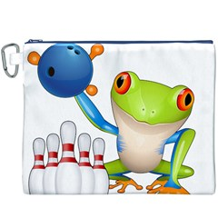 Tree Frog Bowler Canvas Cosmetic Bag (xxxl)