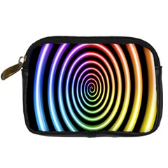 Hypnotic Circle Rainbow Digital Camera Cases