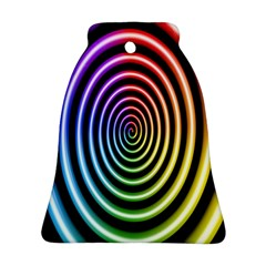 Hypnotic Circle Rainbow Bell Ornament (two Sides)