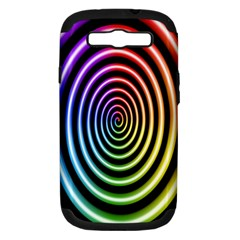 Hypnotic Circle Rainbow Samsung Galaxy S Iii Hardshell Case (pc+silicone)