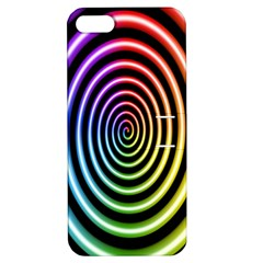 Hypnotic Circle Rainbow Apple Iphone 5 Hardshell Case With Stand