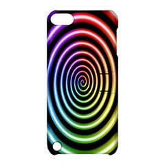 Hypnotic Circle Rainbow Apple Ipod Touch 5 Hardshell Case With Stand