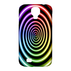 Hypnotic Circle Rainbow Samsung Galaxy S4 Classic Hardshell Case (pc+silicone)