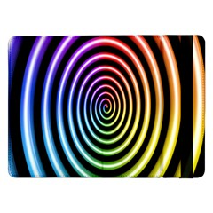 Hypnotic Circle Rainbow Samsung Galaxy Tab Pro 12 2  Flip Case