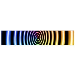 Hypnotic Circle Rainbow Flano Scarf (small)