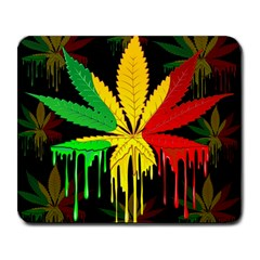 Marijuana Cannabis Rainbow Love Green Yellow Red Black Large Mousepads