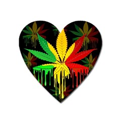 Marijuana Cannabis Rainbow Love Green Yellow Red Black Heart Magnet