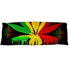 Marijuana Cannabis Rainbow Love Green Yellow Red Black Body Pillow Case (dakimakura)