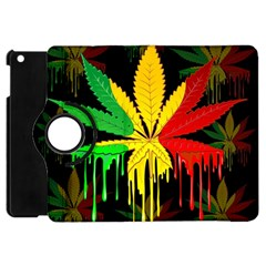 Marijuana Cannabis Rainbow Love Green Yellow Red Black Apple Ipad Mini Flip 360 Case
