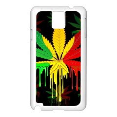 Marijuana Cannabis Rainbow Love Green Yellow Red Black Samsung Galaxy Note 3 N9005 Case (white)