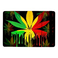 Marijuana Cannabis Rainbow Love Green Yellow Red Black Samsung Galaxy Tab Pro 10 1  Flip Case
