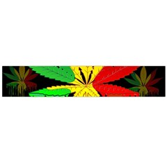 Marijuana Cannabis Rainbow Love Green Yellow Red Black Flano Scarf (large)