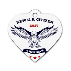 New U S  Citizen Eagle 2017  Dog Tag Heart (two Sides)