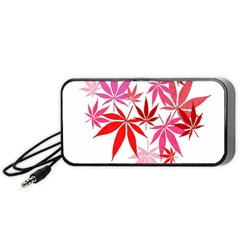 Marijuana Cannabis Rainbow Pink Love Heart Portable Speaker (black)