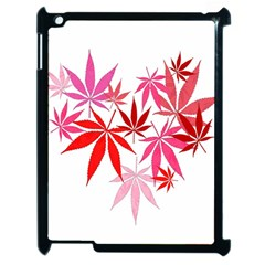 Marijuana Cannabis Rainbow Pink Love Heart Apple Ipad 2 Case (black)
