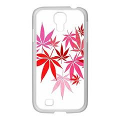 Marijuana Cannabis Rainbow Pink Love Heart Samsung Galaxy S4 I9500/ I9505 Case (white)