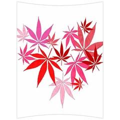 Marijuana Cannabis Rainbow Pink Love Heart Back Support Cushion