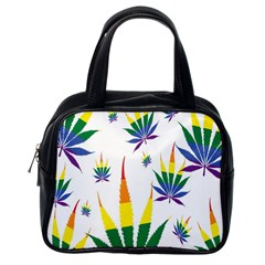 Marijuana Cannabis Rainbow Love Green Yellow Red White Leaf Classic Handbags (one Side)