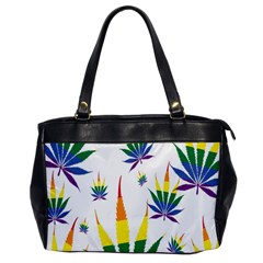 Marijuana Cannabis Rainbow Love Green Yellow Red White Leaf Office Handbags
