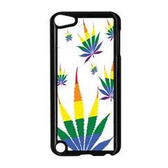 Marijuana Cannabis Rainbow Love Green Yellow Red White Leaf Apple Ipod Touch 5 Case (black)