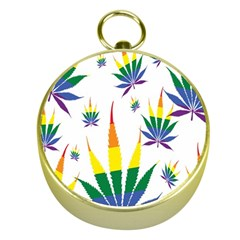 Marijuana Cannabis Rainbow Love Green Yellow Red White Leaf Gold Compasses