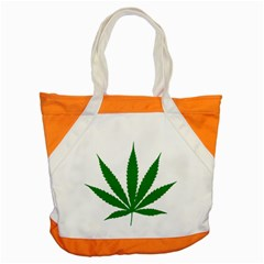 Marijuana Weed Drugs Neon Cannabis Green Leaf Sign Accent Tote Bag