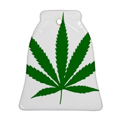 Marijuana Weed Drugs Neon Cannabis Green Leaf Sign Ornament (bell)