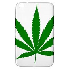 Marijuana Weed Drugs Neon Cannabis Green Leaf Sign Samsung Galaxy Tab 3 (8 ) T3100 Hardshell Case
