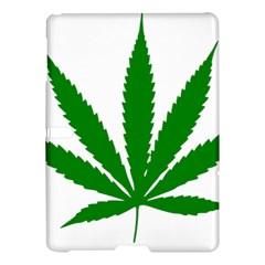 Marijuana Weed Drugs Neon Cannabis Green Leaf Sign Samsung Galaxy Tab S (10 5 ) Hardshell Case