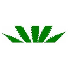 Marijuana Weed Drugs Neon Cannabis Green Leaf Sign Satin Scarf (oblong)