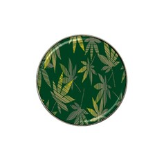 Marijuana Cannabis Rainbow Love Green Yellow Leaf Hat Clip Ball Marker (4 Pack)