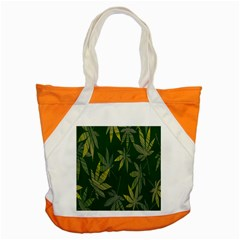 Marijuana Cannabis Rainbow Love Green Yellow Leaf Accent Tote Bag