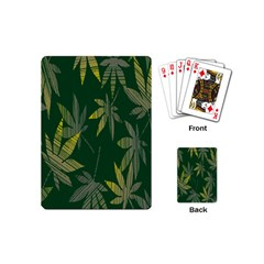 Marijuana Cannabis Rainbow Love Green Yellow Leaf Playing Cards (mini)