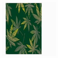 Marijuana Cannabis Rainbow Love Green Yellow Leaf Large Garden Flag (two Sides)