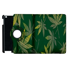 Marijuana Cannabis Rainbow Love Green Yellow Leaf Apple Ipad 2 Flip 360 Case