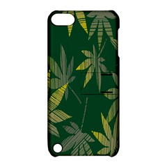 Marijuana Cannabis Rainbow Love Green Yellow Leaf Apple Ipod Touch 5 Hardshell Case With Stand
