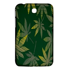 Marijuana Cannabis Rainbow Love Green Yellow Leaf Samsung Galaxy Tab 3 (7 ) P3200 Hardshell Case