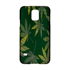 Marijuana Cannabis Rainbow Love Green Yellow Leaf Samsung Galaxy S5 Hardshell Case