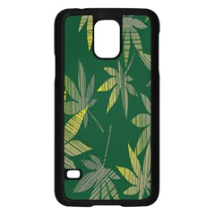 Marijuana Cannabis Rainbow Love Green Yellow Leaf Samsung Galaxy S5 Case (black)