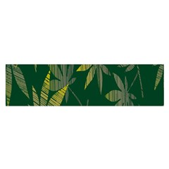 Marijuana Cannabis Rainbow Love Green Yellow Leaf Satin Scarf (oblong)