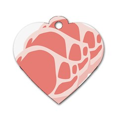 Meat Dog Tag Heart (two Sides)