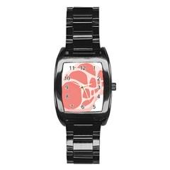 Meat Stainless Steel Barrel Watch