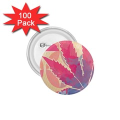 Marijuana Heart Cannabis Rainbow Pink Cloud 1 75  Buttons (100 Pack)