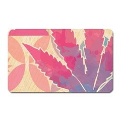 Marijuana Heart Cannabis Rainbow Pink Cloud Magnet (rectangular)