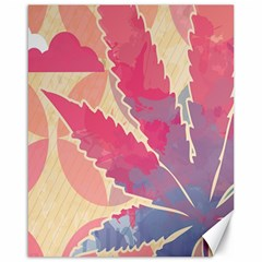 Marijuana Heart Cannabis Rainbow Pink Cloud Canvas 16  X 20