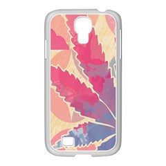 Marijuana Heart Cannabis Rainbow Pink Cloud Samsung Galaxy S4 I9500/ I9505 Case (white)